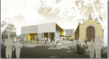 infografía proyecto ganador Mercado - acceso Plaza Adelantado