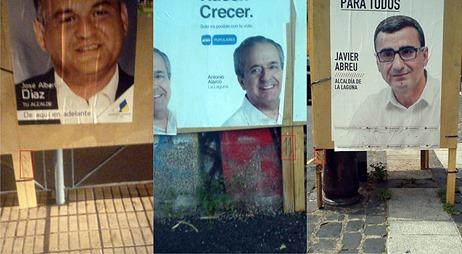 Denuncia carteles  PP CC PSOE