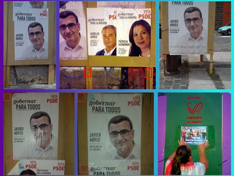 Javier Abreu pancartas vallas electorales
