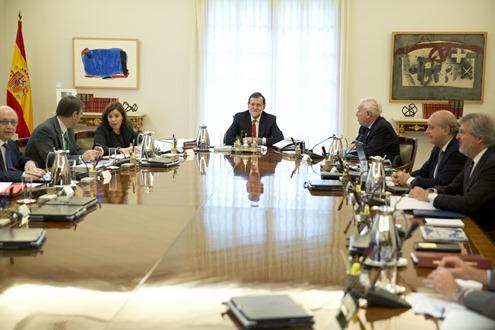 26/10/2015 Madrid, España  El Presidente del Gobierno, Mariano Rajoy, preside el Consejo de Ministros Fotografía: Diego Crespo / Moncloa Presidencia del Gobierno