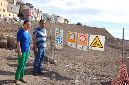 concejales Galván y Díaz en obras conexión San Matías (2)