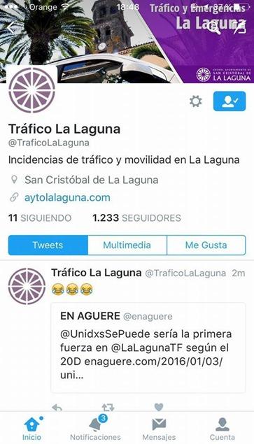 Tweet tráfico LL