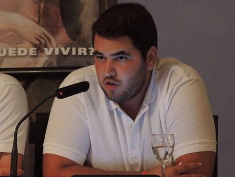 Alejandro Sánchez, portavoz de Libertad Estudiantil